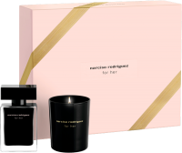Narciso Rodriguez For Her Set =  E.d.T. Nat. Spray 30 ml +  Kerze